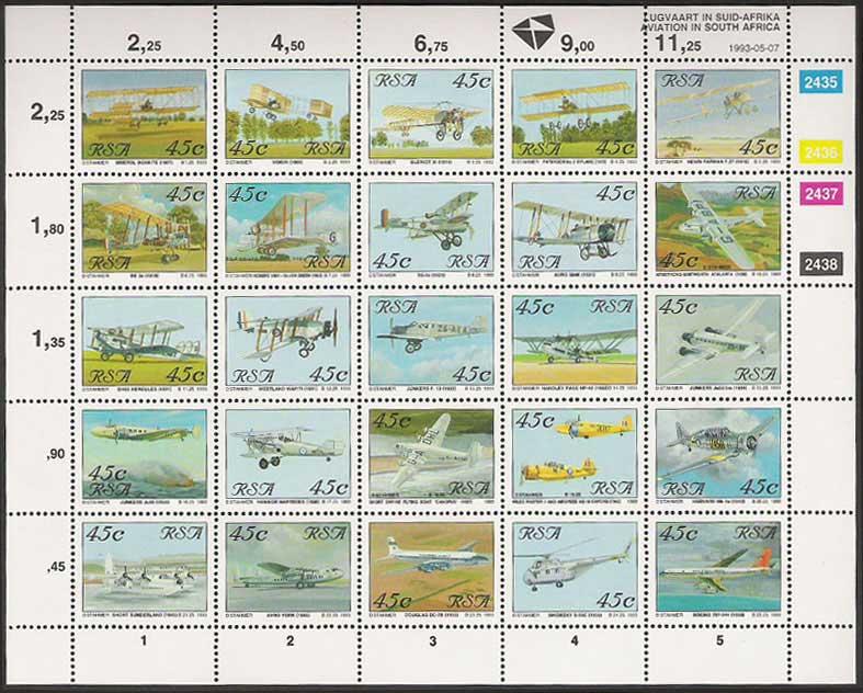 (原创)看邮票识南非35:南非的航空 - 六一儿童 - 译海拾蚌